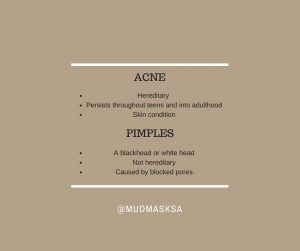Difference pimples and acne